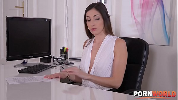 Glamour pornstar Clea Gaultier is a horny secretary that can't get enough anal sex