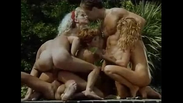 A Group Of Horny Ladies Get Fucked Beside A Pool