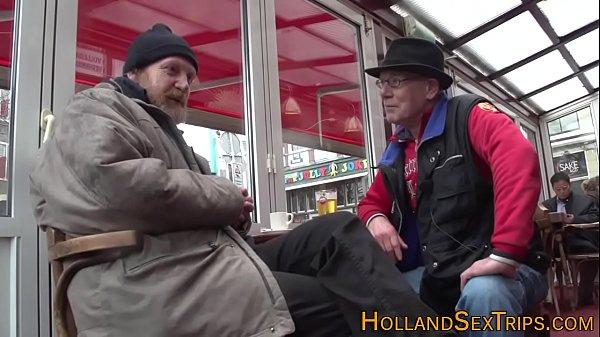 Hooker rides old mans rod