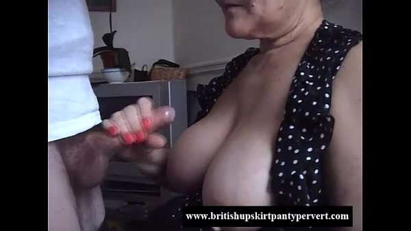 British granny lifts her skirt and lets me fuck...