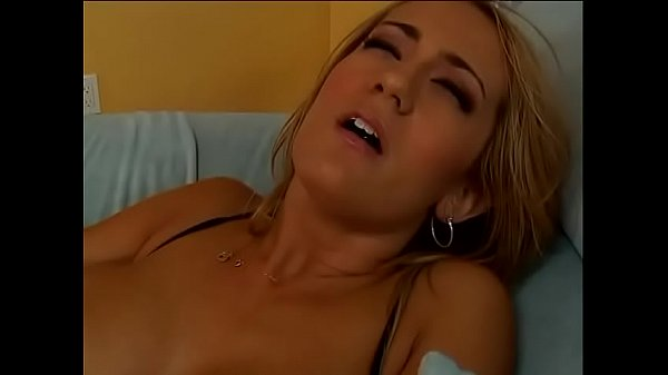Horny blonde tongue Trina Michaels gets ass fucked on the couch