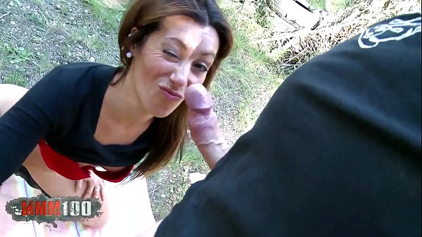 Hot latina MILF Peeing on cock and outdoor hard...