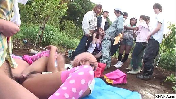 Uncensored JAV group of gyaru farm sex party Su...