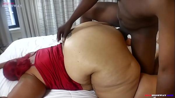 Huge booty redbone mom taking big black dick