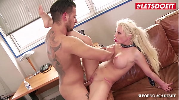 LETSDOEIT - Barbie Sins, Rick Angel & Anthony Gaultier - Busty College Girl Gets DP At School Thumb