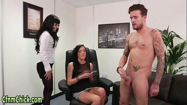 Cfnm mistress spunked