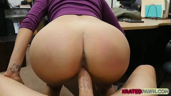 Sexy and indespaired Brunette fucked the pawnshop owner