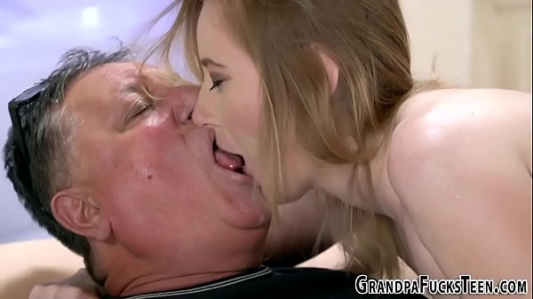 Teen rimmed and banged by gramps