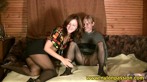 Sweet pantyhose couple