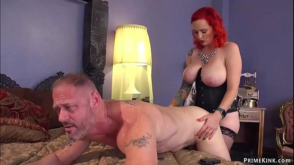Monster tits femdom pegging man
