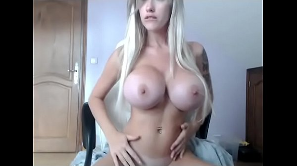 Busty Blonde webcam show