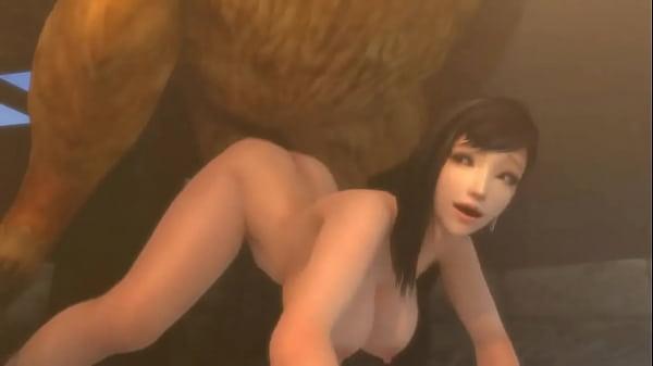 Chocobo fuck Tifa Lockhart