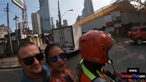 Amateur Asian European couple fucking after sig...