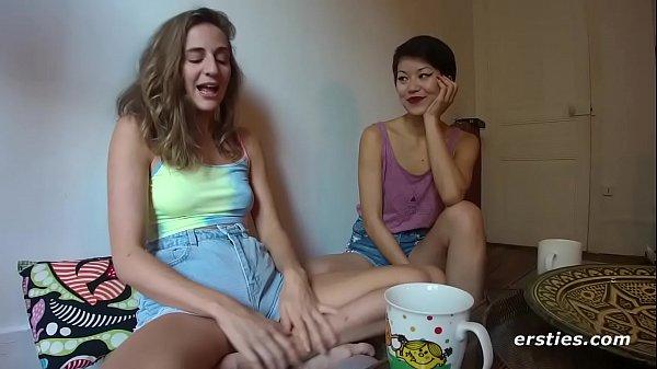 Sensual Lesbian Massage Turns into Fingering Orgasm