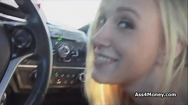 Blonde looking for job finds cock instead