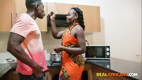 Ebony Amateur Wife Fucked Hard On Kitchen Counter