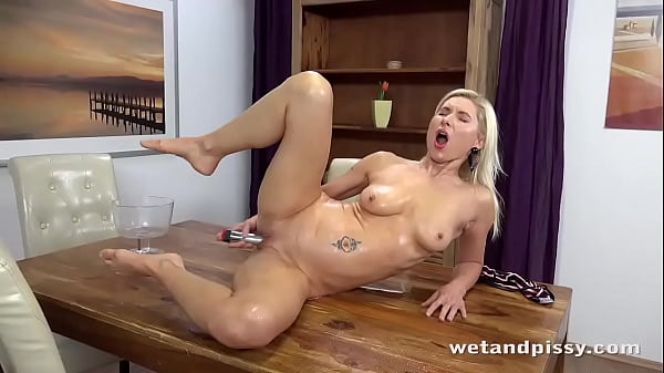 Horny Piss Loving Blonde Soaks Herself Thumb