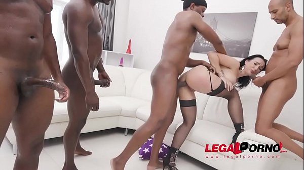 Lady Gang interracial double penetration with 4 BBC SZ2497
