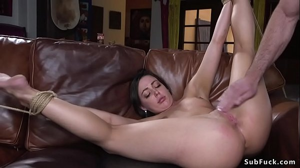 Hot ass babe gagged and ass whipped