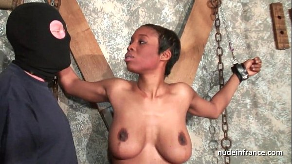 Amateur Busty french black sex slave fucked hard in bdsm