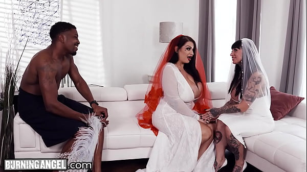 BurningAngel BBW Bride With HUGE Tits Has The Fuck Of Her Life With The Groomsman