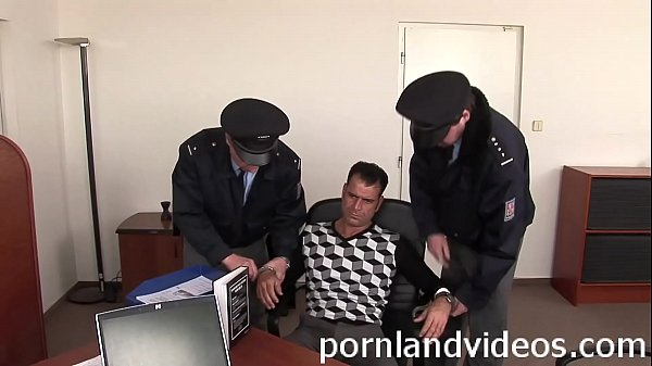 slutty policewoman punish big cock in her office