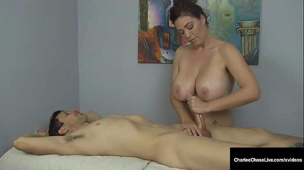 Hot Busty Cougar Charlee Chase Rides Client & B...