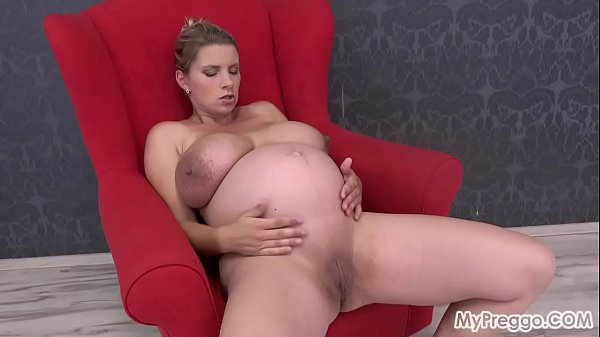 Preggo Katerina Flaunts Her Huge Tits, Then Fucks Her Shaved Pussy!