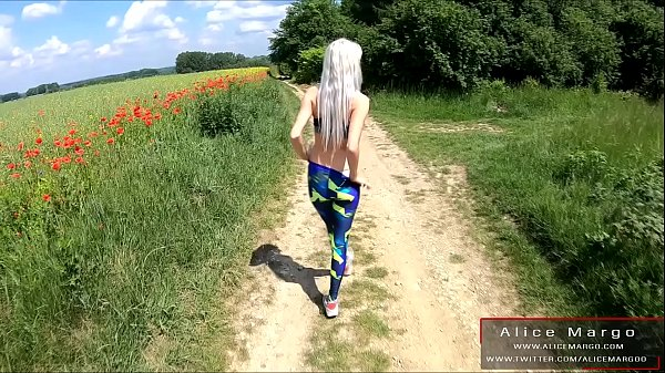 Public Sex With My Friend! Girl in Leggins! AliceMargo.com