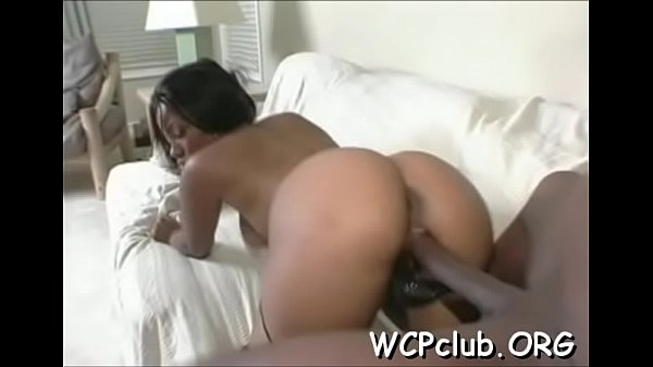 Nasty chick with great butt gets her anal gap fucked hard