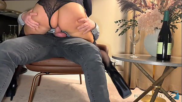 Business trip sex - boss meets secretary in suspenders in hotel room to fuck without protection, business-bitch Thumb