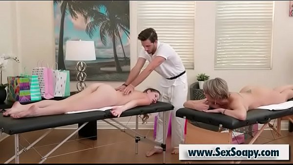 Masseur gives pleasure to a doughter and a mom - Lucas Frost & Dee Williams