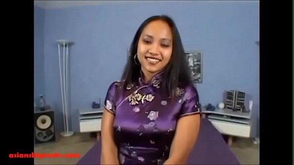 Asiansbigcocks.com big huge white monster cock breaking open asian maid pussy