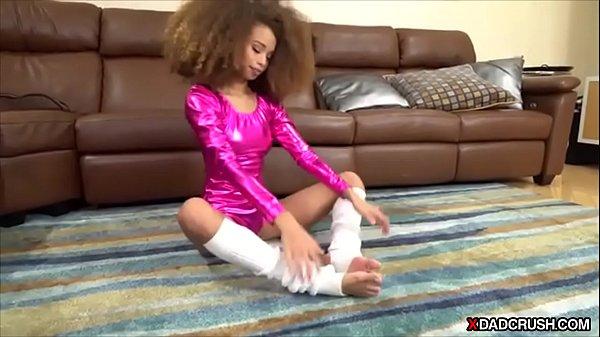 Ebony stepdaughters flashy sexy entrance