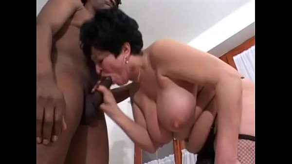 Slutty look old lady Iren wants to get into some adventures with this black dude
