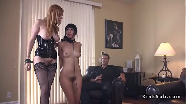 Husband dominates wife and Asian