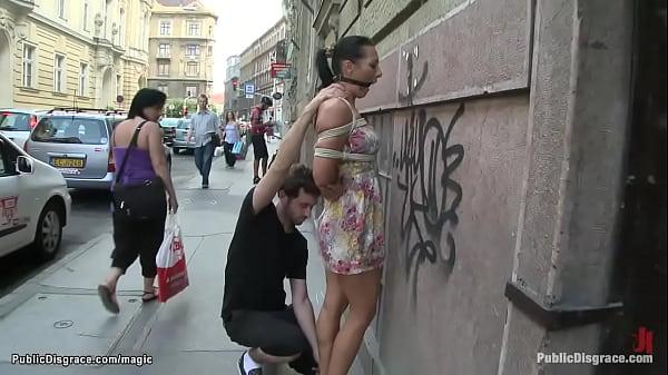 Romanian slut fucking on the streets