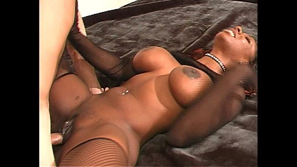Cute ebony babe fucking black dick