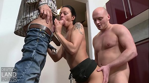A threesome in the kitchen - keeps the house to...