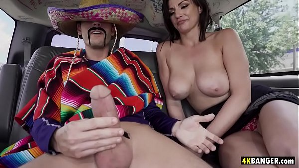 Massive Tits Becky Bandini jumps in Vanfor a Hot Taco Fuck