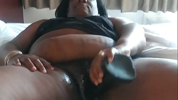 Big pussy creaming up from monster black dildo