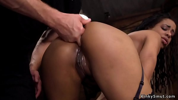Ebony slave anal fisted and fucked
