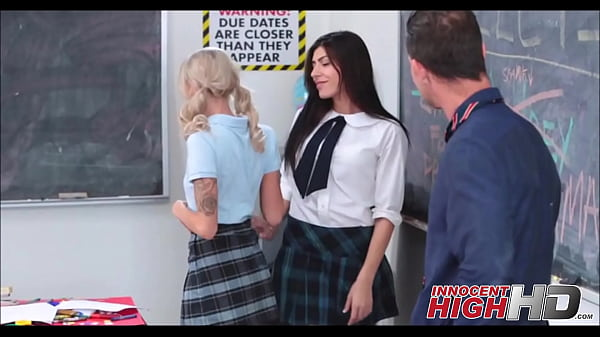 Two h. Girls Take Turns With Teacher Thumb