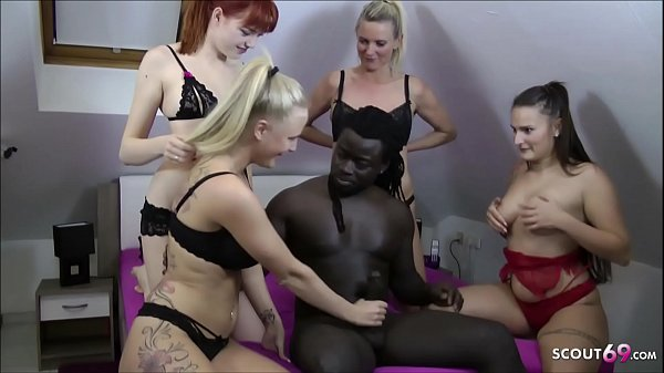 REVERSE GANGBANG - German Anny Aurora Dirty Tina in FFFM Sex