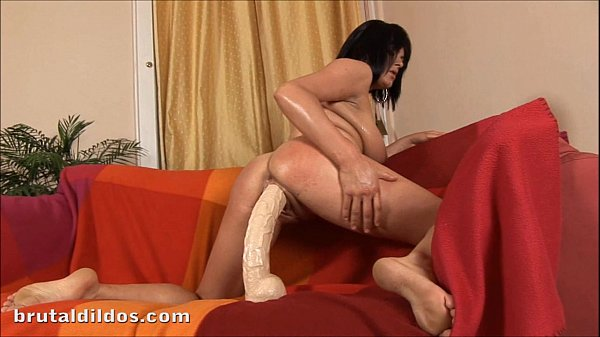 Thick and horny amateur bounces on a big b. dildo Thumb
