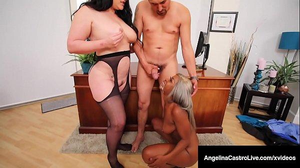Big Butt Babes Angelina Castro & Harmonie Marqu...