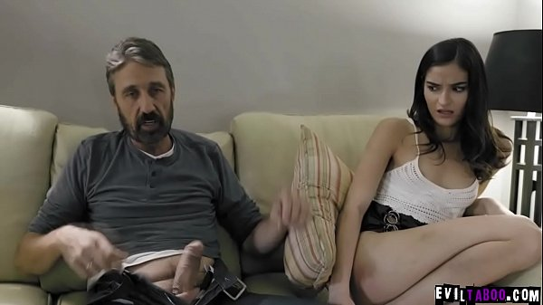 Whaaaam! Now we're talking serious spanking! Cruel stepdad disciplines his slutty daughter Emily Willis! Thumb