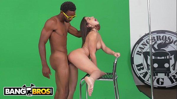 BANGBROS - Abella Danger Struggles To Act Then Takes A Big Black Dick