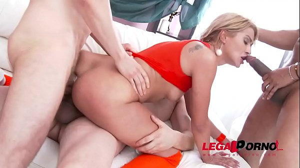 Cock Hungry Blondie Cherry Kiss 3on1 Airtight Double Penetration