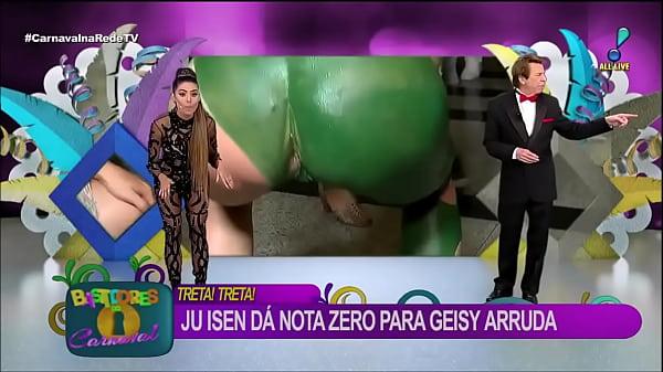 Cu verde Ju Isen mostra demais enquanto faz aga...